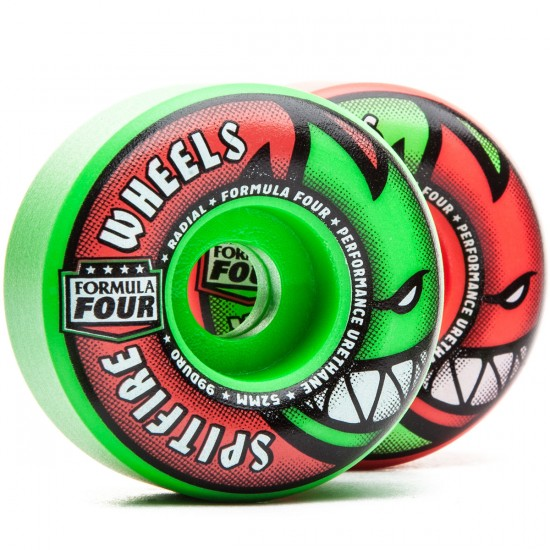 Spitfire Formula Four Neuro Melon Skateboard Wheels - 52mm 99D - Pink/Green