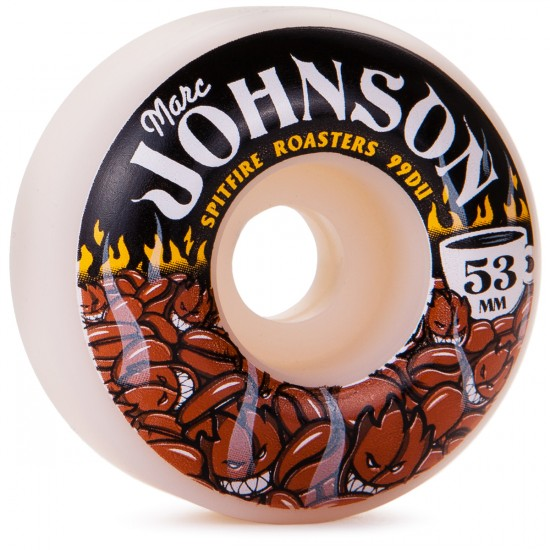 Spitfire Marc Johnson Roasters Skateboard Wheels - White - 53mm