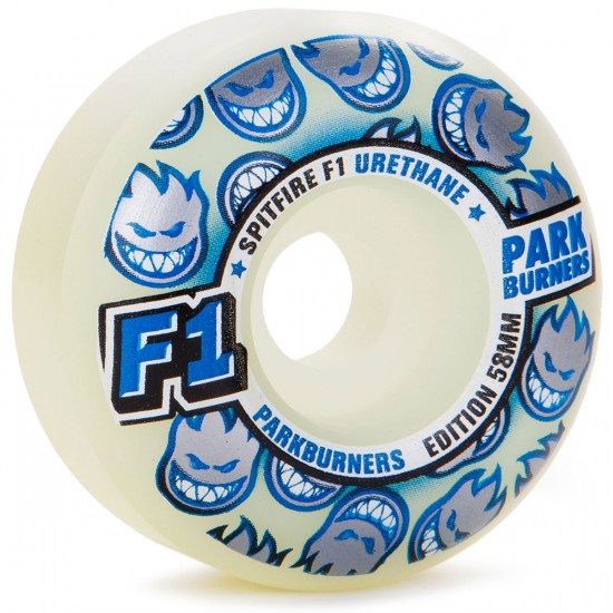 Spitfire F1 Park Burners Skateboard Wheels 58mm 98a - White