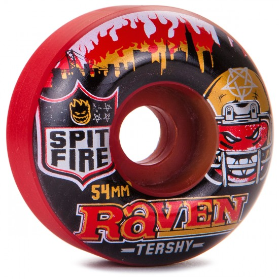Spitfire Raven Tershy Football Kings Skateboard Wheels - 50/50 Swirl - 54mm