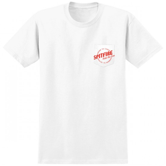 Spitfire Ride The Fire T-Shirt - White