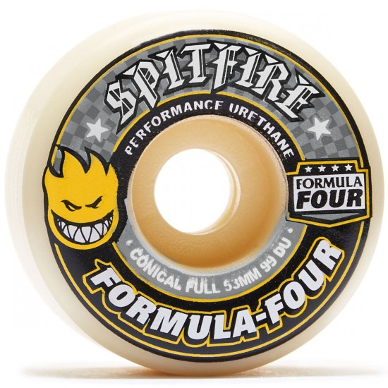 Spitfire Formula Four 99du Conical Skateboard Wheels - 53