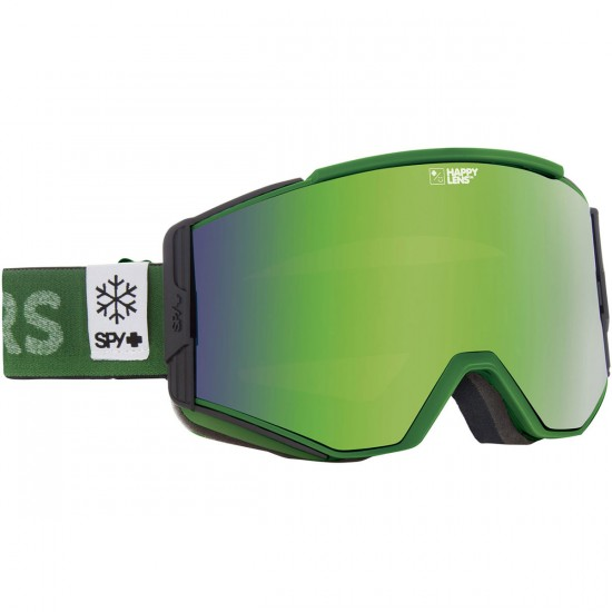 Spy Ace Snowboard Goggles - Aurora Green/Happy Green Spectra with Happy Lucid Silver