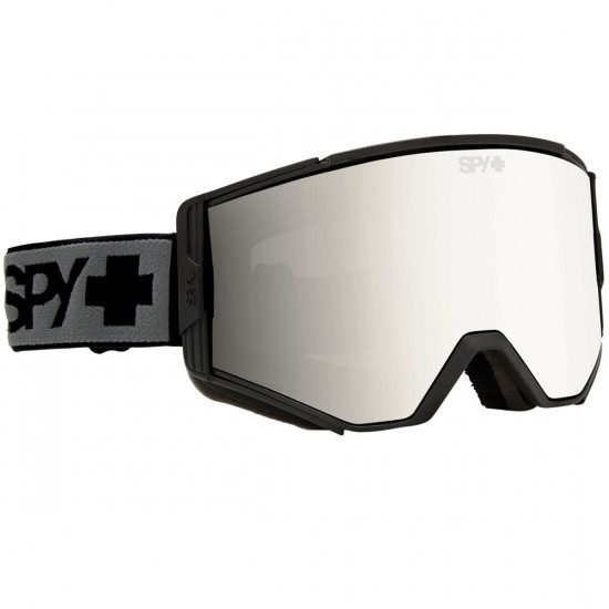 Spy Ace Snowboard Goggles - Black/Bronze With Silver Mirror and Persimmon