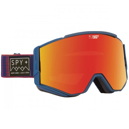 Spy Ace Snowboard Goggles - Stitched Blue /Happy Red Spectra with Happy Lucid Green