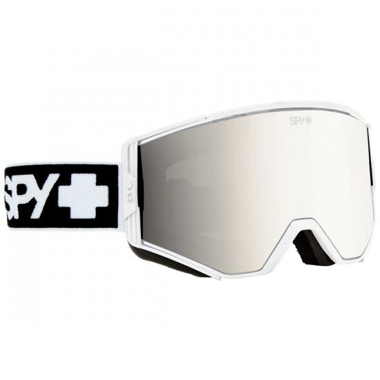 Spy Ace Snowboard Goggles - White/Bronze With Silver Mirror and Persimmon