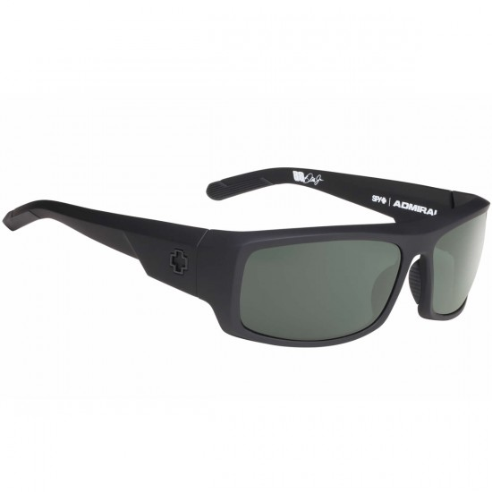 Spy Admiral Sunglasses - Matte Black-Happy Grey Green