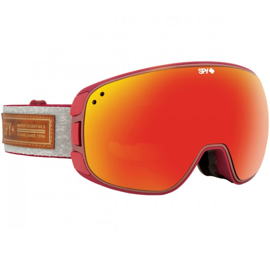 Spy Bravo Snowboard Goggles - Red/Bronze With Red Spectra and Persimmon Contact