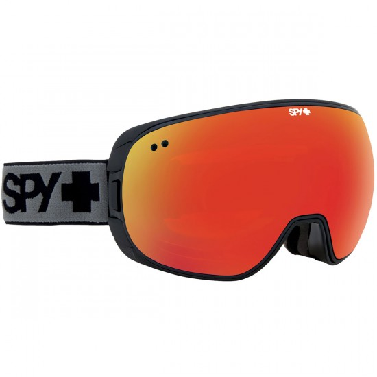 Spy Doom Snowboard Goggles - Black/Bronze With Red Spectra and Blue Contact