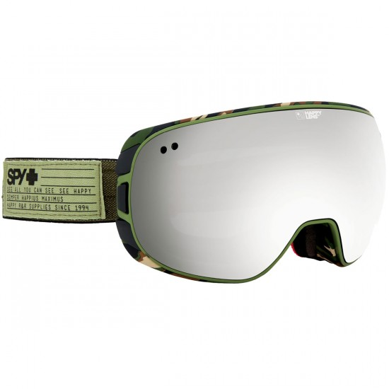Spy Doom Snowboard Goggles - Fatigue/Happy Gray Green With Silver Mirror and Happy Yellow With Green Sprectra