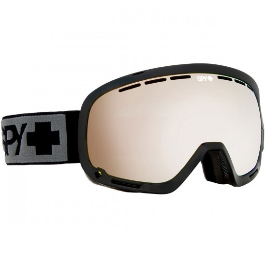 Spy Marshall Snowboard Goggles - Black/Bronze With Silver Mirror and Persimmon Contact