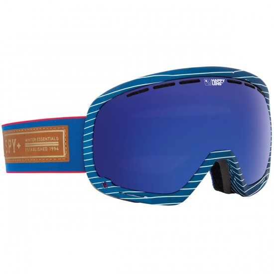 Spy Marshall Snowboard Goggles - Heritage Grey/Happy Bronze With Dark Blue Spectra and Happy Persimmon With Silver Mirror
