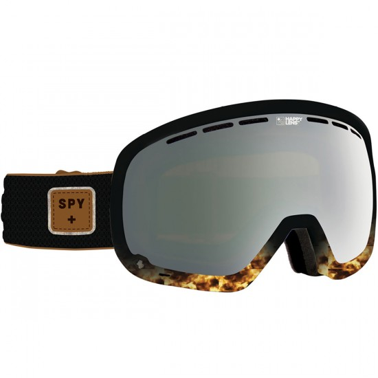 Spy Marshall Snowboard Goggles - Pepper Tort/Happy Gray Green With Silver Mirror and Happy Yellow With Green Spectra