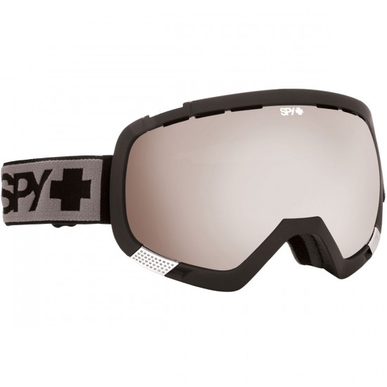 Spy Platoon Snowboard Goggles - Black/Bronze With Silver Mirror and Persimmon Contact