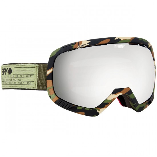 Spy Platoon Snowboard Goggles - Fatigue/Happy Gray Green With Silver Mirror and Happy Yellow With Green Sprectra