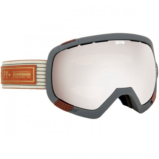 Spy Platoon Snowboard Goggles - Heritage White/Bronze With Silver Mirror and Persimmon Contact