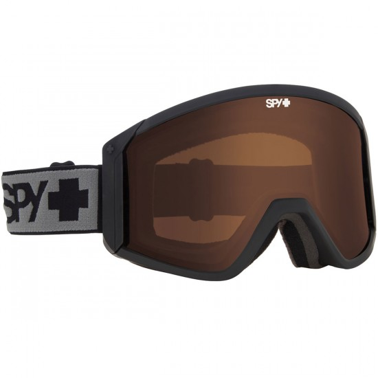 Spy Raider Snowboard Goggles - Black/Bronze and Persimmon