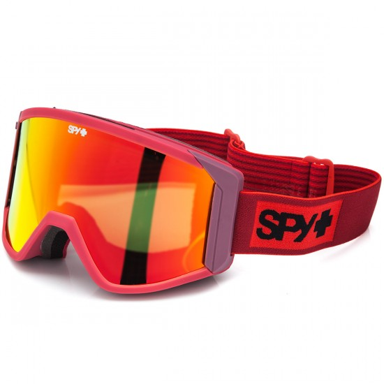 Spy Raider Snowboard Goggles - Elemental Red/Bronze With Red Spectra and Persimmon