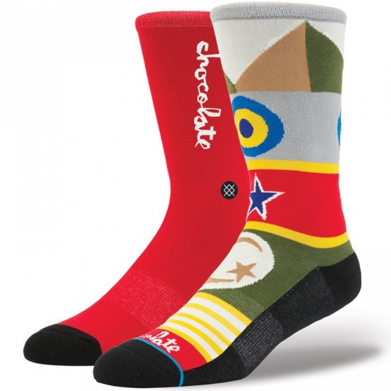 Stance Chocolate Flags Socks - Red