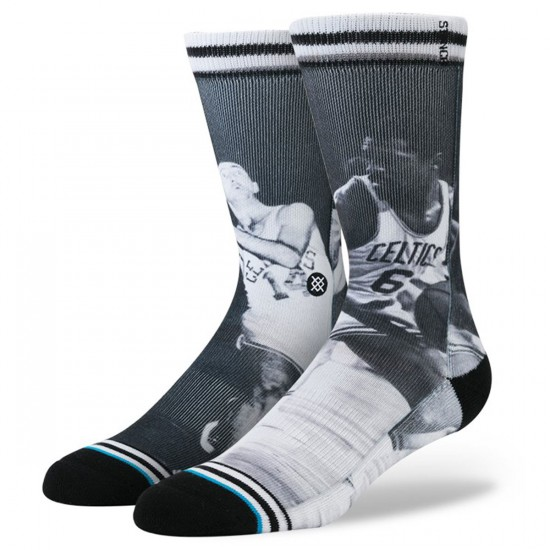 Stance Cousy/Russell Socks - Black