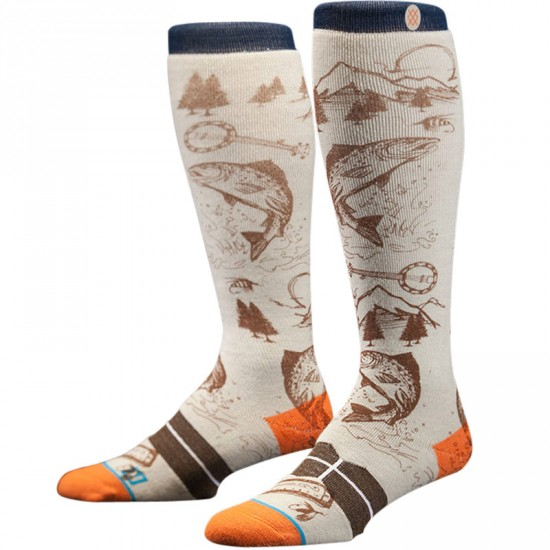 Stance E Jack Snow Socks - White
