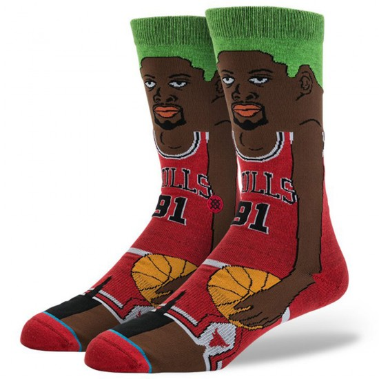 Stance Rodman Socks - Red