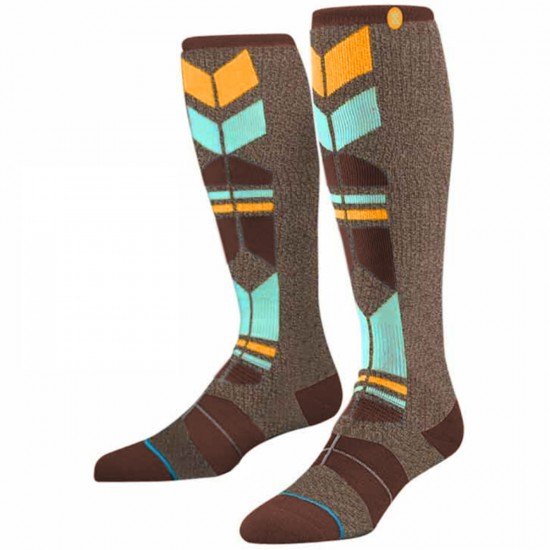 Stance Wasatch Snow Socks - Brown