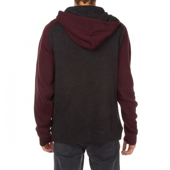 SUPERbrand Wrap Pullover Hoodie - Heather Maroon