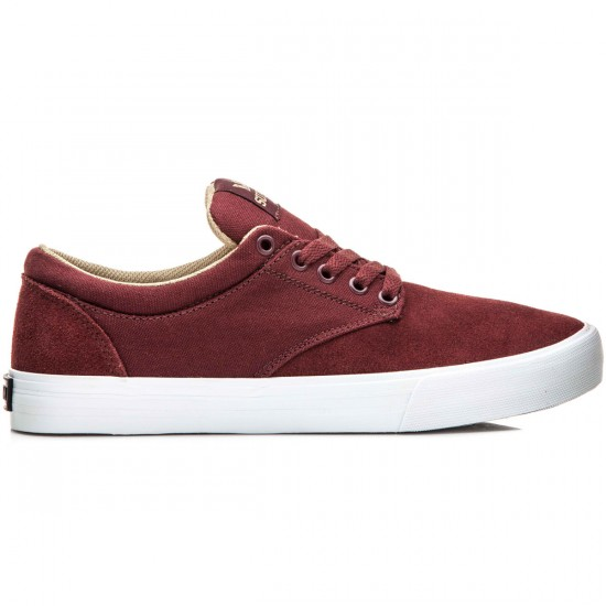 Supra Chino Shoes - Burgundy/Khaki/White - 10.0