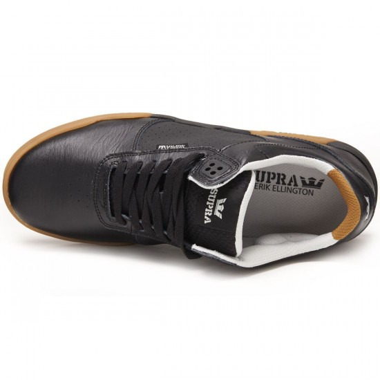 Supra Ellington Shoes - Black/Gum - 8.0