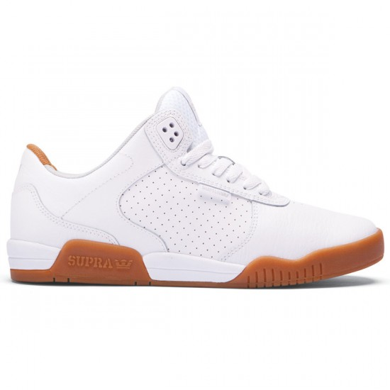 Supra Ellington Shoes - White/Gum - 8.0