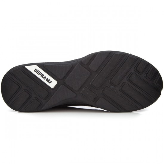Supra Hammer Run Shoes - Black/Black/Black - 6.5