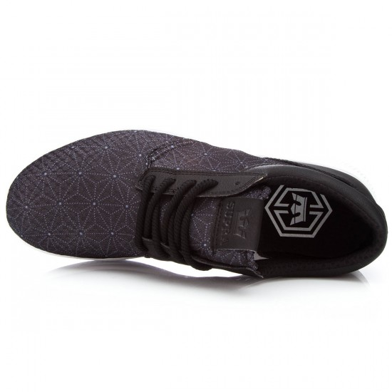Supra Hammer Run Shoes - Black/Print White - 7.5
