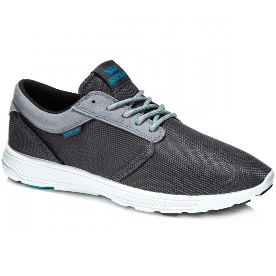 Supra Hammer Run Shoes - Charcoal/Light Grey/White - 10.0
