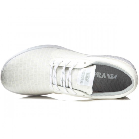 Supra Hammer Run Shoes - White Checkered Mesh - 10.0