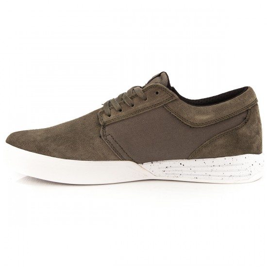 Supra Hammer Run Shoes - Dusty Olive/White - 7.5