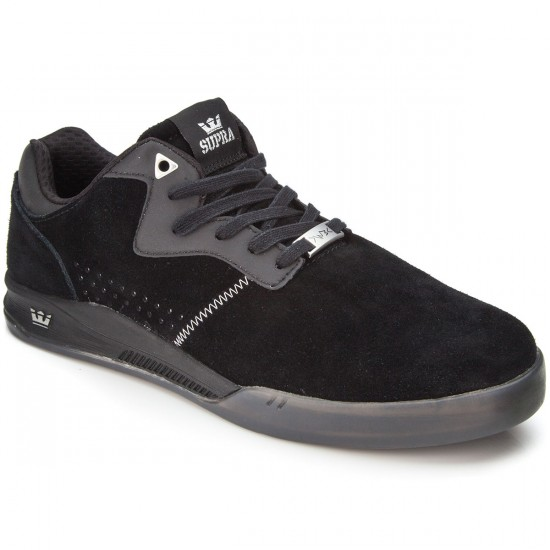 Supra Quattro Shoes - Black/Grey/Transluscent - 7.0