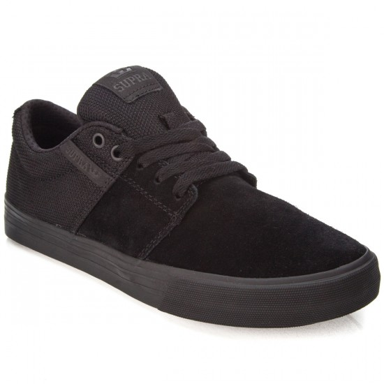 Supra Stacks Vulc II Shoes - Black/Black/Black - 7.0