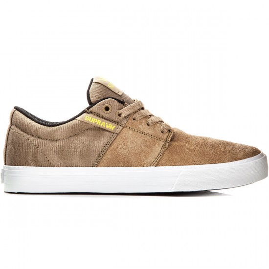 Supra Stacks Vulc II Shoes - Khaki/White - 10.0