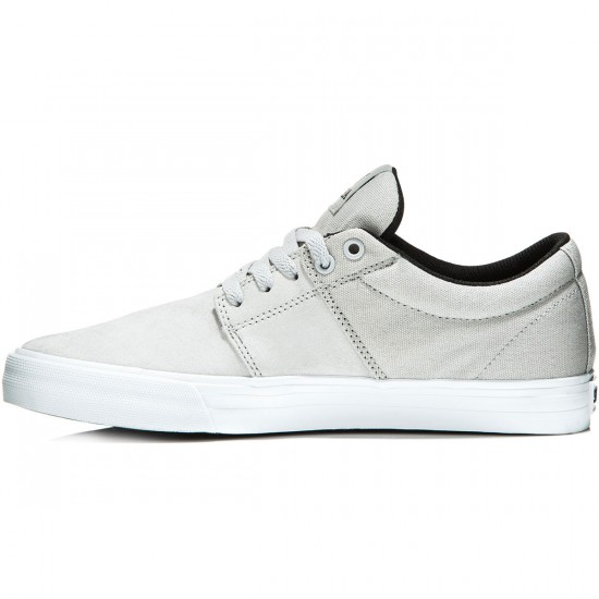 Supra Stacks Vulc II Shoes - Light Grey/White - 10.0