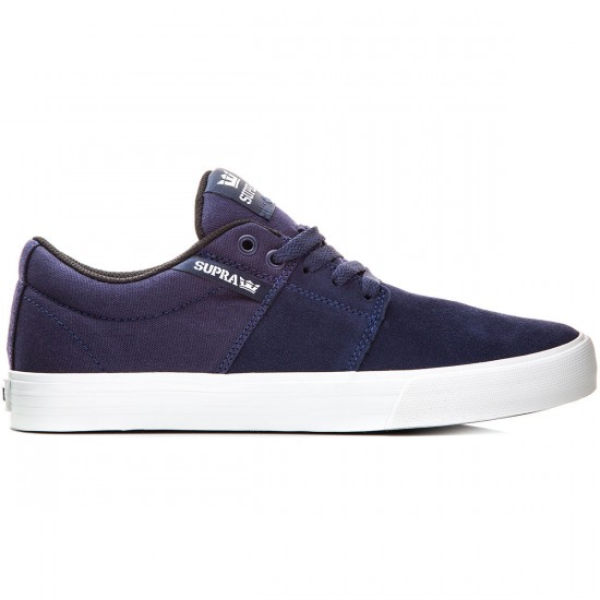 Supra Stacks Vulc II Shoes - Navy/White - 10.0