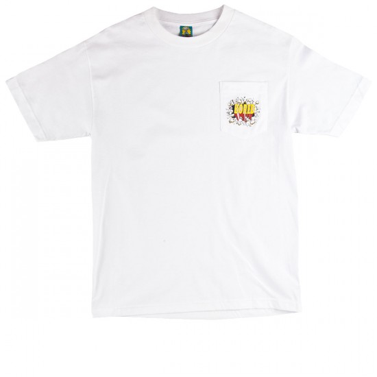 Teenage Bored Cracked T-Shirt - White