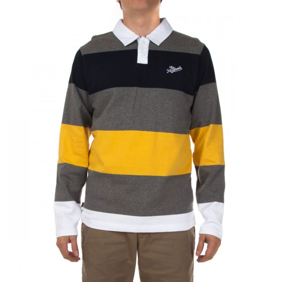 The Hundreds Budrow Long Sleeve Polo Shirt - Athletic Heather