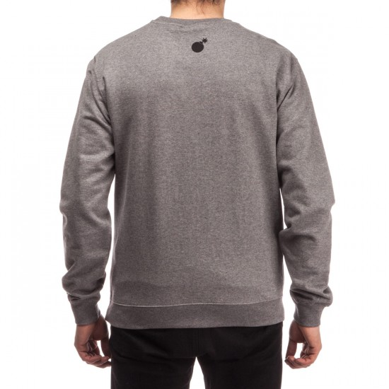 The Hundreds Cam Slant Crewneck Sweatshirt - Gunmetal Heather