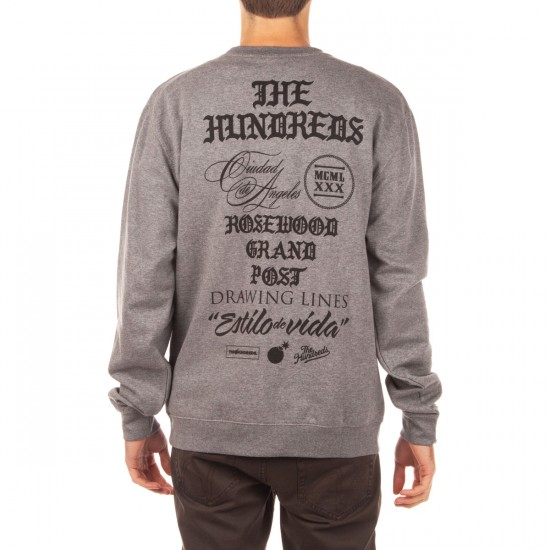 The Hundreds Credo Crewneck Sweatshirt - Gunmetal Heather