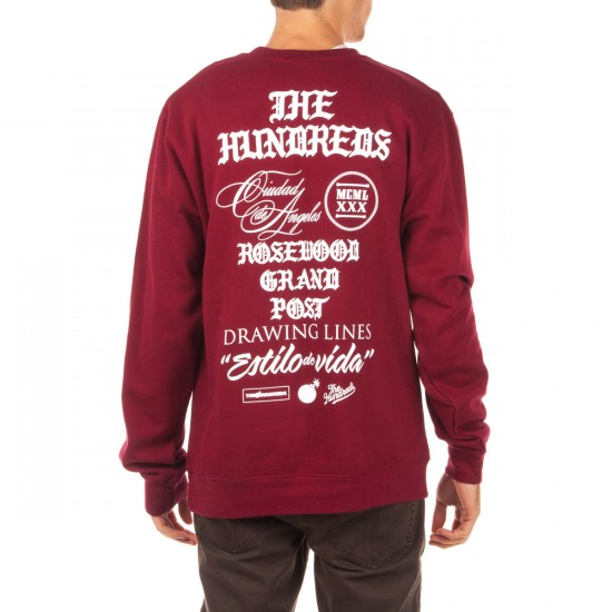 The Hundreds Credo Crewneck Sweatshirt - Maroon