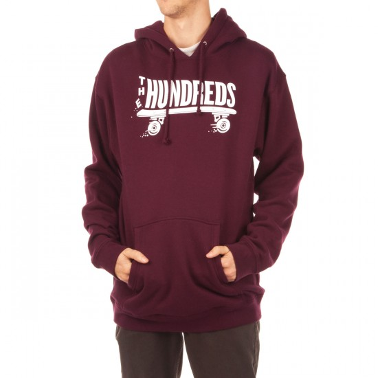The Hundreds Flat Spot Pullover Hoodie - Maroon