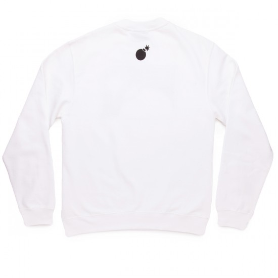 The Hundreds Forever Halfbomb Crew Sweatshirt - White