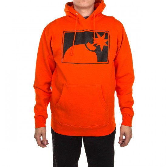 The Hundreds Forever Halfbomb Pullover Sweatshirt - Athletic Orange