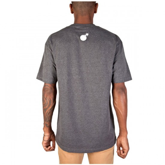 The Hundreds Forever Halfbomb T-Shirt - Charcoal Heather